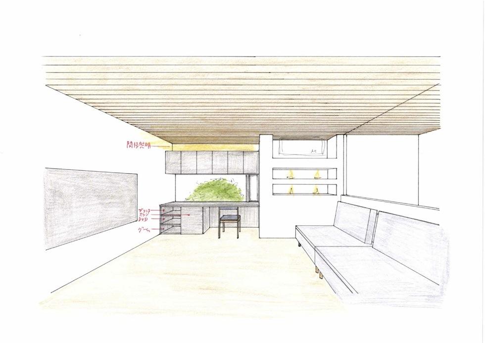 眺望の家,ガレージハウス,建築家,大阪,神戸,京都,高級注文住宅設計,リビング
