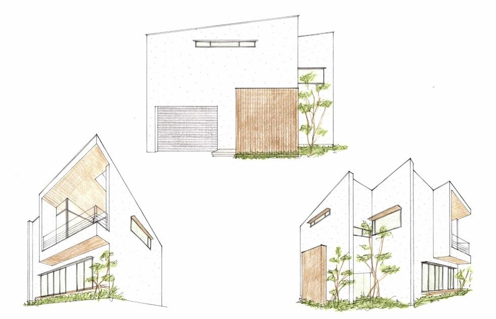 外観イメージ,再検討,建築家,大阪,箕面,北摂,高級注文住宅設計