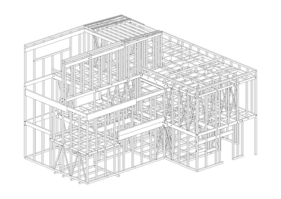 プレカット図の確認,大阪,豊中,北摂,高級注文住宅設計,建築家,コートハウス