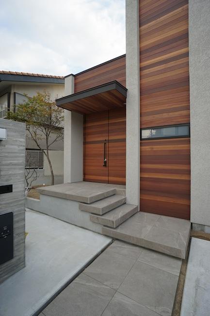建築家,大阪,高級注文住宅設計,北摂,豊中,ファサード,外観デザイン,階段デザイン