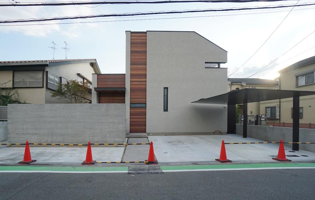 建築家,大阪,高級注文住宅設計,北摂,豊中,ファサード,外観デザイン