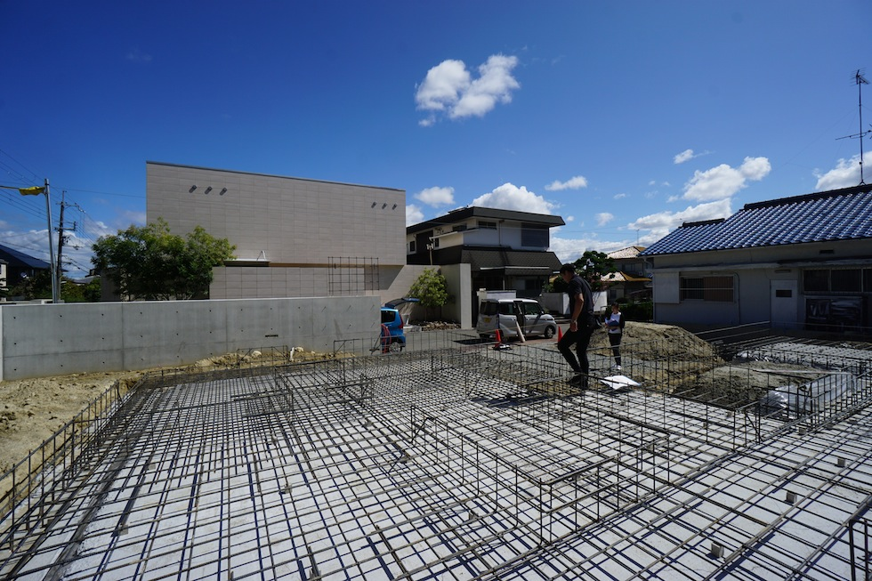 配筋検査,大阪,北摂,豊中,高級注文住宅設計,コートハウス,中庭のある家