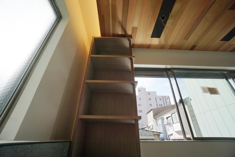 リノベーション,外観,高級注文住宅設計,大阪,建築家の家づくり,東成区,天王寺区,本棚