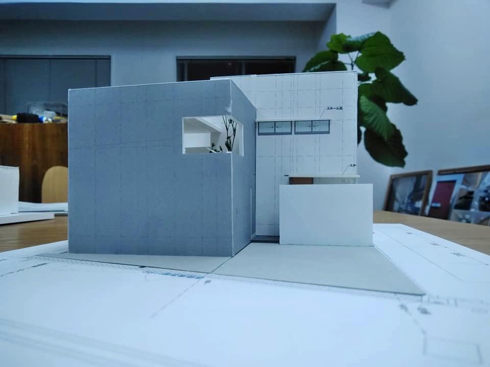 模型,ハイサイドライトコートの家,大阪,高槻,北摂,高級注文住宅設計,コートハウス,中庭の家