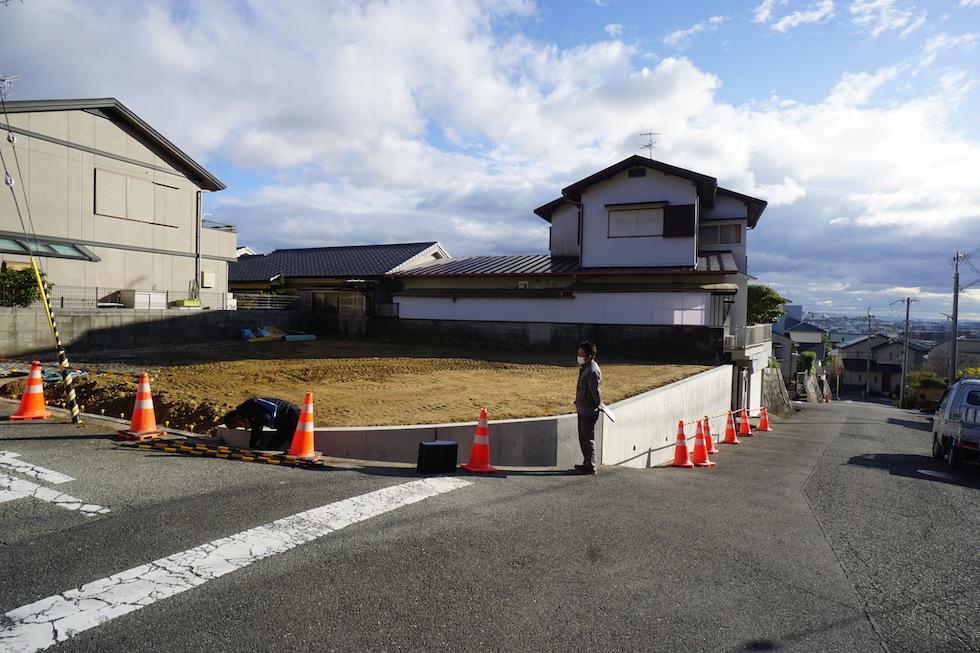 建築家,大阪,箕面,北摂,高級注文住宅設計,外観,テラスハウス,眺望の家,ガレージハウス,擁壁工事