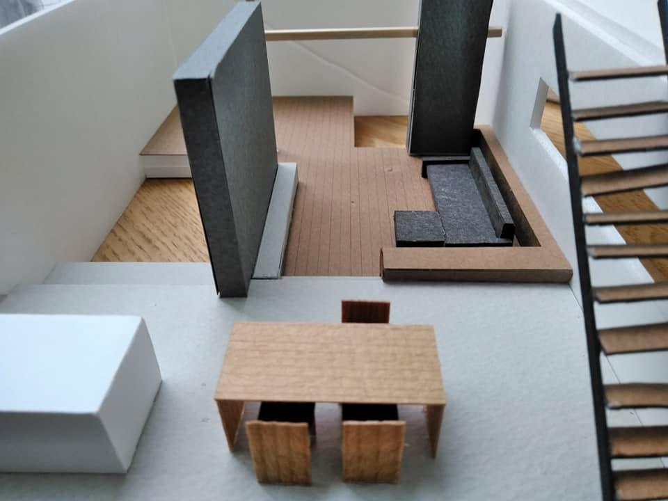 模型検討,大阪,高級注文住宅設計,コートハウス,中庭の家,北摂,豊中,建築家,ダウンリビング,ラグジュアリー