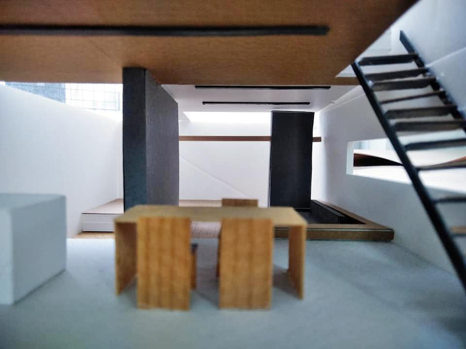 模型検討,大阪,高級注文住宅設計,コートハウス,中庭の家,北摂,豊中,建築家,ダウンリビング