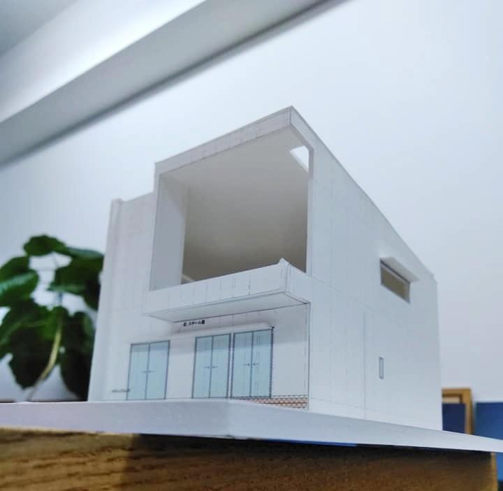 模型検討,建築家,大阪,箕面,北摂,高級注文住宅設計,外観,テラスハウス,眺望の家,ガレージハウス