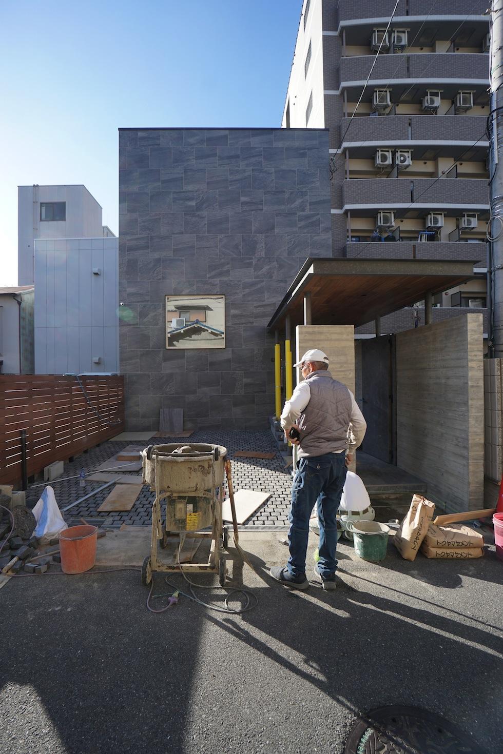 高級注文住宅設計,リノベーション,大阪,建築家,大阪市,東成区,ラグジュアリー,エタノール暖炉,外観タイル