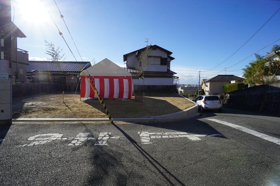 地鎮祭,大阪,北摂,眺望の家,ガレージハウス,高級注文住宅設計