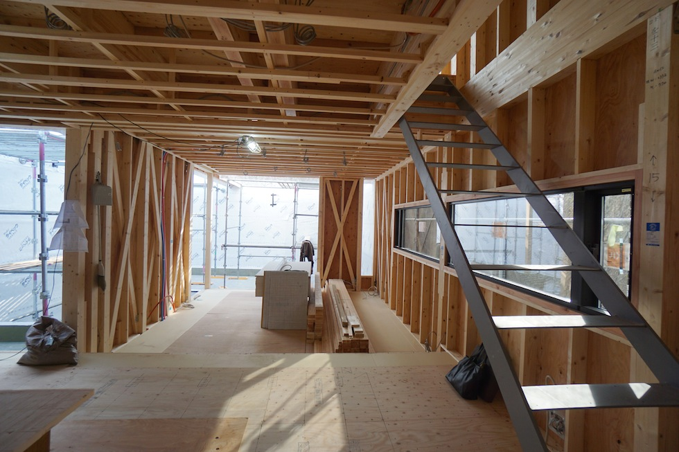 大阪建築家,高級注文住宅設計,豊中,北摂,コートハウス,2階リビング,インナーテラス
