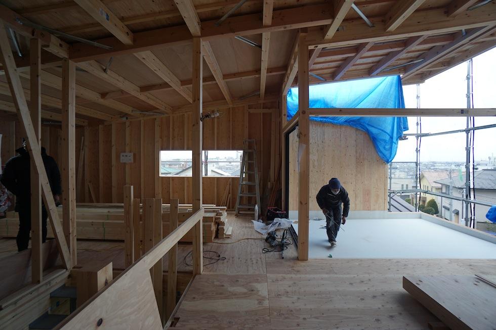 屋根防水工事,大阪建築家,高級注文住宅設計,北摂,箕面,眺望の家,ガレージハウス,眺めの良い家