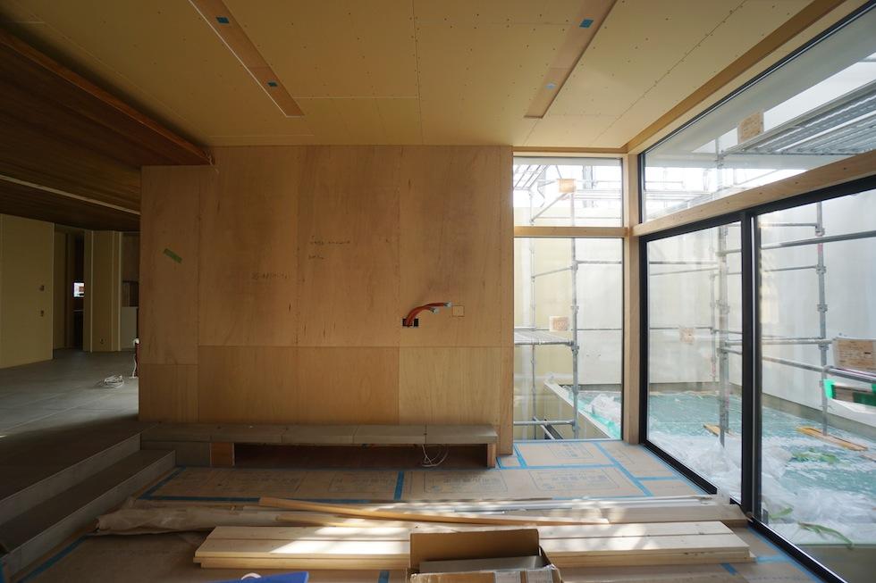 建築家,大阪,北摂,豊中,高級注文住宅設計,コートハウス,陽だまり,ガラス,