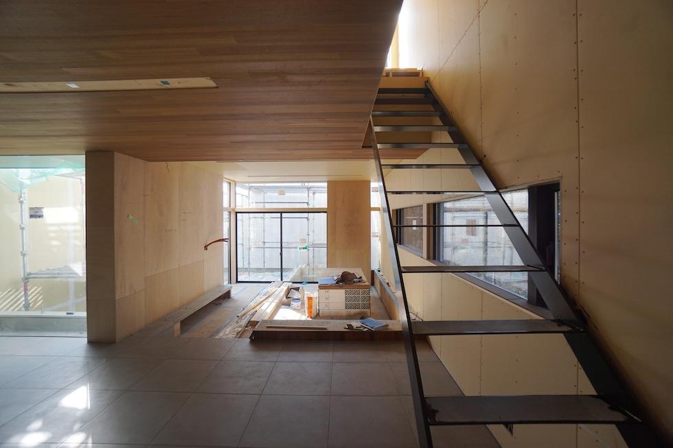 建築家,大阪,北摂,豊中,高級注文住宅設計,コートハウス,陽だまり,タイル貼り