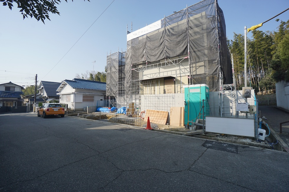 建築家,大阪,北摂,豊中,高級注文住宅設計,コートハウス,陽だまり,外観