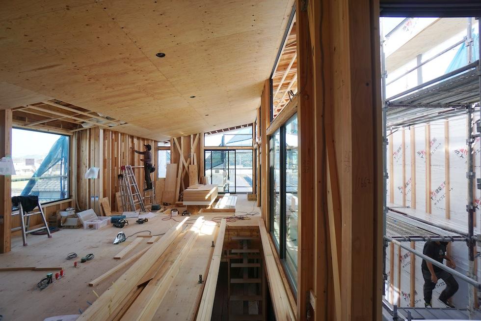 大阪,設計事務所,高級注文住宅設計,おおきな窓,2階リビング,眺望,金剛山,パワースポット,富田林の家,コートハウス,中庭の家